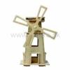 Drevená stavebnica - Veterný solárny mlyn W130