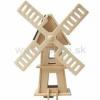 Drevená stavebnica - Veterný solárny mlyn W120